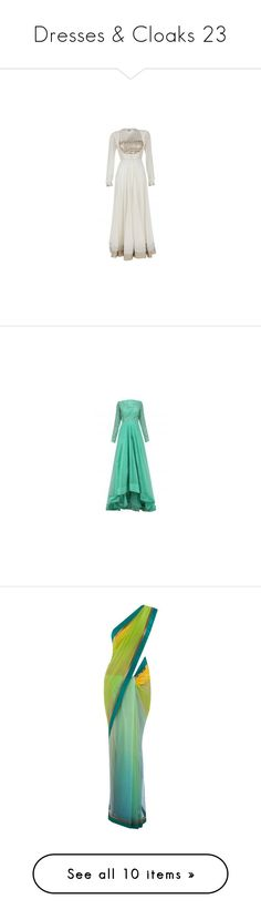 """""""Dresses & Cloaks 23"""" by xx-black-blade-xx ❤ liked on Polyvore featuring dresses, saree, long dress, brown, maxi dresses, boho dresses, vintage long dresses, long boho dresses, cotton maxi dress and vintage maxi dresses"""