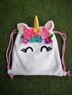 Unicorn backpack kids backpack unicorns backpack f Cute Crafts, Felt Crafts, Fabric Crafts, Sewing Crafts, Sewing Projects, Crafts For Kids, Unicorn Kids, Unicorn Crafts, Unicorn Birthday