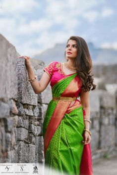 A Classic Photo Shoot With Beautiful Outfits, Nifty Makeup & Graceful Pictures! Pattu Sarees Wedding, Wedding Saree Blouse Designs, Pattu Saree Blouse Designs, Silk Sarees, Wedding Blouses, Drape Sarees, Party Sarees, Ethnic Sarees, Kanjivaram Sarees