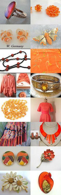 Orange- The New Neutral A Teamlove Flashpro Treasury  by Rare Beauty on Etsy--Pinned with TreasuryPin.com