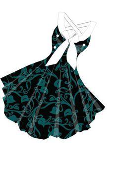Rockabilly retro 50's pin up dress