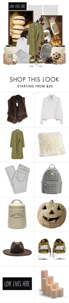 """""""Hello October"""" by peonyandpython ❤ liked on Polyvore featuring Oris, Vince, Y's by Yohji Yamamoto, MANGO, Current/Elliott, MCM, Kiss That Frog, rag & bone, NIKE and Frontgate"""