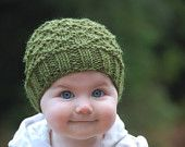 Olive Baby Knit Hat
