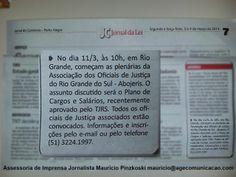 Sua empresa/instituição quer sair no jornal com informações relevantes? Contrate a Assessoria de Imprensa da Age! Comunicação. mauricio@agecomunicacao.com