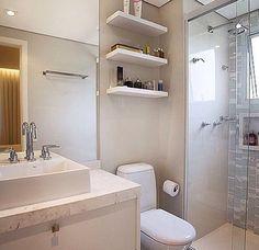 """1,399 curtidas, 23 comentários - ⠀⠀⠀⠀⠀⠀⠀⠀A Casa Que Eu Quero (@acasaqueeuquero) no Instagram: """"Banheiro super fofo para inspirar nossa sexta-feira! Ameeeeeei!!! ❤️❤️❤️ - #banheiro #design…"""""""