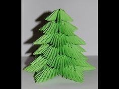 Origami Christmas tree 3D (choinka origami) - YouTube