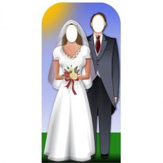 No need to picture what you will look like on your wedding day anymore when you have one of these fab cutouts!!