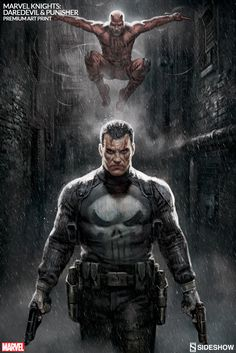 Marvel Marvel Knights Punisher Daredevil Premium Art Print by Sideshow Collectibles