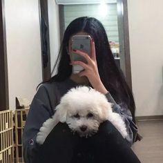 ulzzang girls with dogs Mode Ulzzang, Ulzzang Korean Girl, Cute Korean Girl, Ulzzang Couple, Asian Girl, Korean Aesthetic, Aesthetic Girl, Aesthetic Photo, Aesthetic Pictures