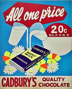 Old Cadbury's Advertisment. Beryl's Chocolate, Images Of Chocolate, Cadbury Dairy Milk Chocolate, Chocolate Heaven, Advertising Signs, Vintage Advertisements, Vintage Ads, Vintage Posters, Retro Ads
