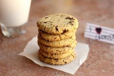 Incredible Chickpea Flour Chocolate Chip Cookies (Grain-Free, Vegan) 7 - oatmealwithafork.com
