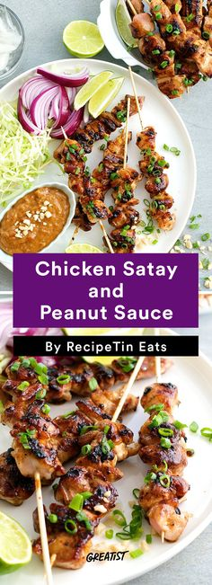 7. Chicken Satay and Peanut Sauce #healthy #homemade #streetfood http://greatist.com/eat/street-food-recipes-to-make-at-home