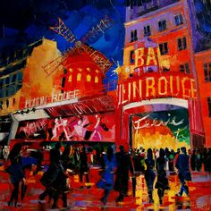 "Saatchi Online Artist EMONA Art; Painting, ""An evening at Moulin Rouge"" #art"