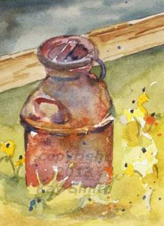 Old Milk Can, painting by artist Kay Smith