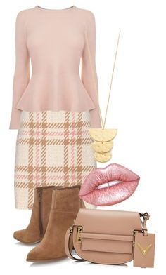 """""""light pink"""" by nkichar on Polyvore featuring MARC CAIN, BOSS Hugo Boss, Nine West, Gorjana, Valentino and Lime Crime"""