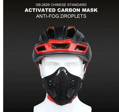 Pro Cycling Mask With Filter Protective Cycling Mask Activated Carbon