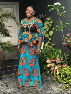 Native Skirt And Blouse Styles:Check Out 25 Native Skirt And Blouse Styles For African Women African Attire, African Wear, African Women, African Dress, African Clothes, African Style, Maxis, Corsage, Ankara Skirt And Blouse
