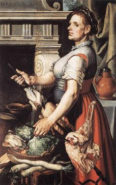 Pieter Aertsen (1508 -1575). Cook in front of the Stove