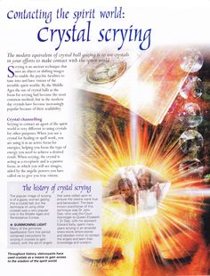 Contacting the spirit world with Crystal Scrying