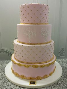 Pink Wedding - by Maya Delices @ CakesDecor.com - cake decorating website