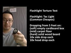 Cheap Airgun Tactical Flashlight Dropping Torture Test - PASSED