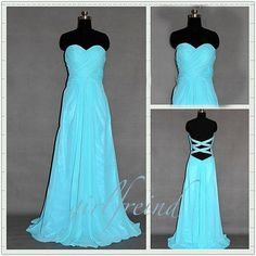 Sweetheart strapless floor-length chiffon Prom Dresses / Evening Dress #girls #prom #party #dress