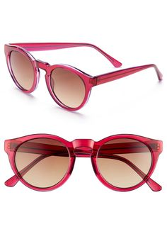 12a5adcf1a 48mm Retro Sunglasses by A.J. MORGAN on  nordstrom rack Pink Sunglasses