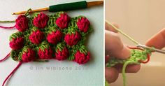 How to do the strawberry stitch.
