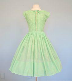 negli anni cinquanta Abito cotone...R & K originale Semi di deomas, $105.00