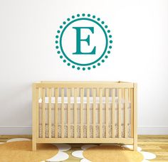 Custom monogram vinyl wall decal  I have a large selection of name decals and other fun decals in my shop. If you like what you see, visit my