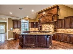 The kitchen offers unlimited decorative possibilities in this Pittsburgh-area home offered by Zita Billmann