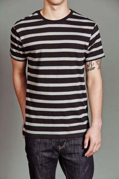 Massive Crew Neck Striped T-Shirt