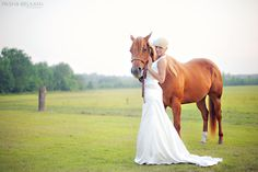 Bridal Photos, Bridal Portraits, Bride with horse. Myrtle Beach Wedding Photographer:: Pasha Belman Photography