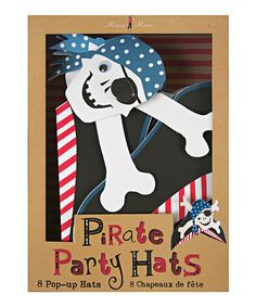 Take a look at this Ahoy There Pirate Party Hat - Set of Eight by Meri Meri on #zulily today!
