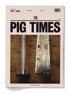 The Pig Times by Maggy Villarroel, via Behance