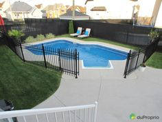 I like the wide gate Swimming Pools Backyard, Fire Pit Backyard, Pool Landscaping, Outdoor Spaces, Outdoor Living, Outdoor Decor, New Deck, Beautiful Pools, Pergola