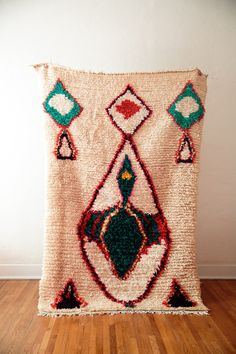 Loving the spirit animal vibe of this vintage berber moroccan rug from coco carpets. #boucherite #azilal