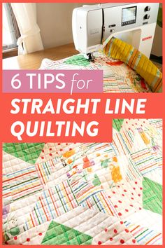 6 Tips for Straight Line Machine Quilting (a. Matchstick Quilting) - Suzy Quilts - Learn the 6 simple steps to straight line quilting, or as some call it, matchstick quilting. Quilting For Beginners, Sewing Projects For Beginners, Quilting Tips, Quilting Tutorials, Quilting Projects, Sewing Tutorials, Beginner Quilting, Baby Quilt Tutorials, Quilting Templates