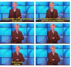 Haha. I love Ellen! :D