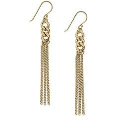 Giani Bernini Tassel Drop Earrings in 24k Gold over Sterling Silver ($33) ❤ liked on Polyvore featuring jewelry, earrings, yellow gold, gold chain earrings, sterling silver drop earrings, yellow gold dangle earrings, chain drop earrings and yellow gold earrings