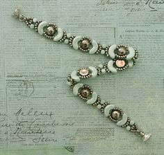 Linda's Crafty Inspirations: Bracelet of the Day: Jolie Band - Pale Green &…