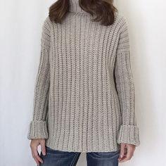 Chunky Crochet Sweater Pattern – Created By Patti