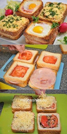 Необычные и вкусные бутерброды к завтраку — пальчики оближите! Healthy Sandwiches, Delicious Sandwiches, Breakfast Sandwiches, Bagel Sandwich, Cucumber Sandwiches, Cucumber Rolls, Sandwich Ideas, Dinner Sandwiches, Sandwich Recipes