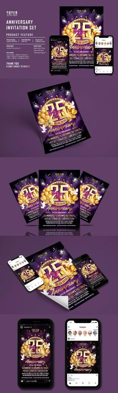 All Details You Need to Know About Home Decoration - Modern Company Anniversary, Anniversary Ideas For Him, Anniversary Decorations, Marriage Anniversary, Anniversary Invitations, Design Lounge, Set Design, Print Design, Graphic Design