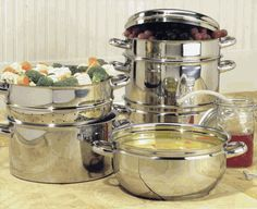 Nutri Steamer Stainless Steel Juicer/Cooker set by Back to Basics $176.99… Steam Juicer, Best Juicer, Steamer, Kitchen Aid Mixer, Home Brewing, Cooker, Coffee Maker, Stainless Steel, Homestead