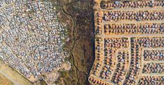 10 Powerful Photographs Captured With Drones Showing The Lines Dividing Rich And Poor.