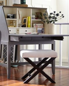 Love this secretary and bench, Crate and Barrel