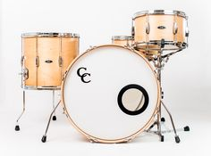 C&C Drums Europe - Vintage Drums - Player Date 2 - Natural Maple - Kit (front) www.candcdrumseurope.com