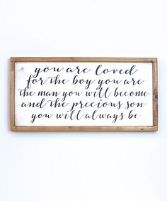 Take a look at this 'Loved Son' Wall Sign today!