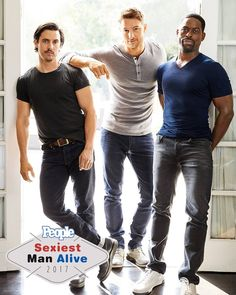The Men of This Is Us are everywhere this year — and no one seems to mind. Milo Ventimiglia, Sterling K. Brown, and Justin Hartley are as hot off-screen as they are on. Justin Hartley, Hot Actors, Actors & Actresses, Serie This Is Us, Famous In Love, Hot Dads, Milo Ventimiglia, Raining Men, Man Alive